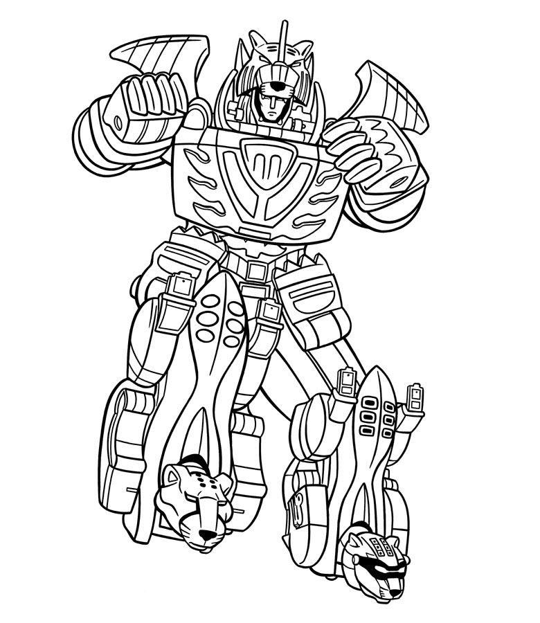Tranh tô màu Robot biến hình đẹp, độc
