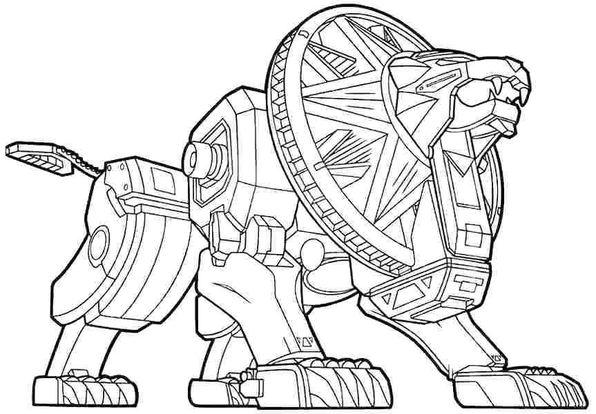 Tranh tô màu Robot biến hình sư tử