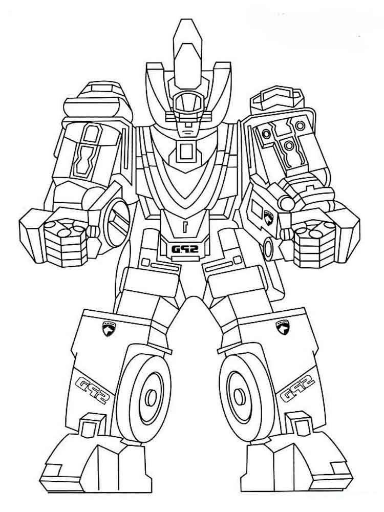 Tranh tô màu Robot siêu nhân biến hình