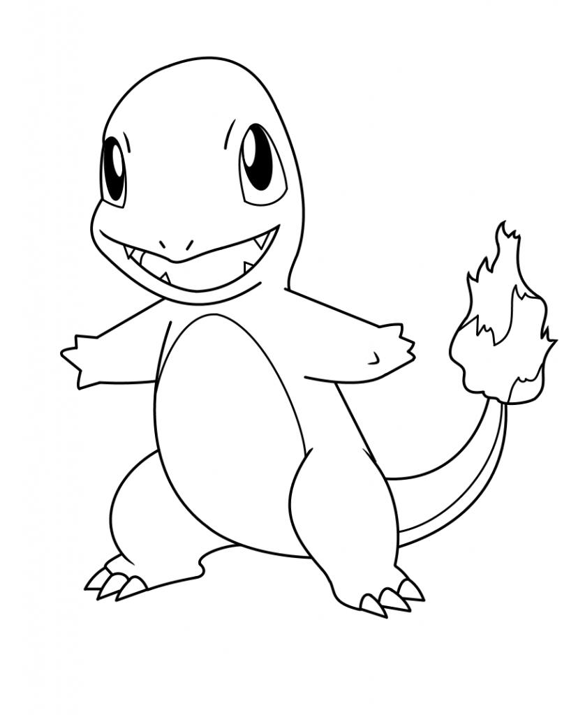 Tranh tô màu rồng Pokemon