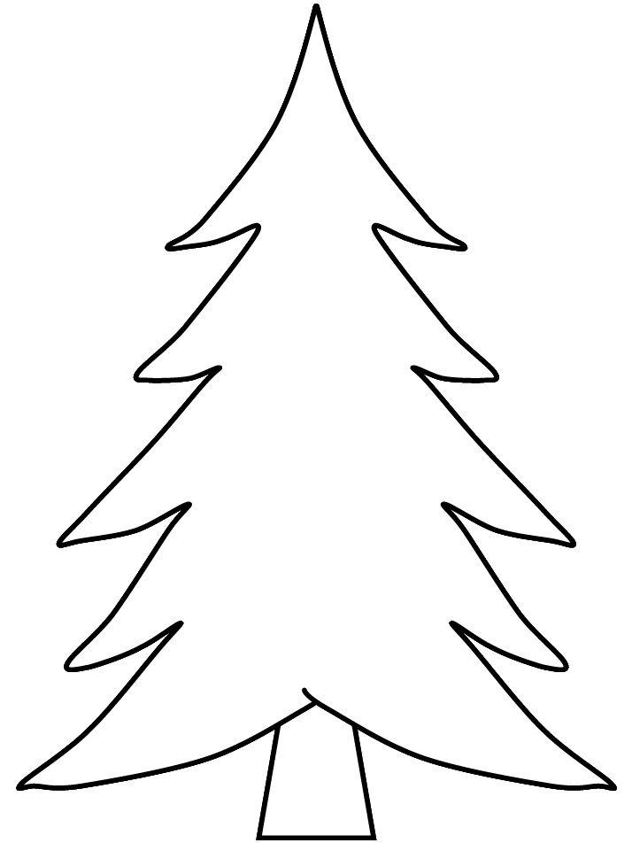 Hình tô màu cây thông đơn giản