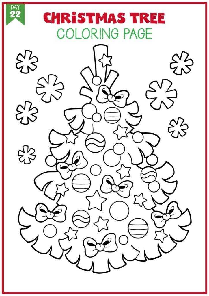 Hình tô màu cây thông Noel đẹp nhất