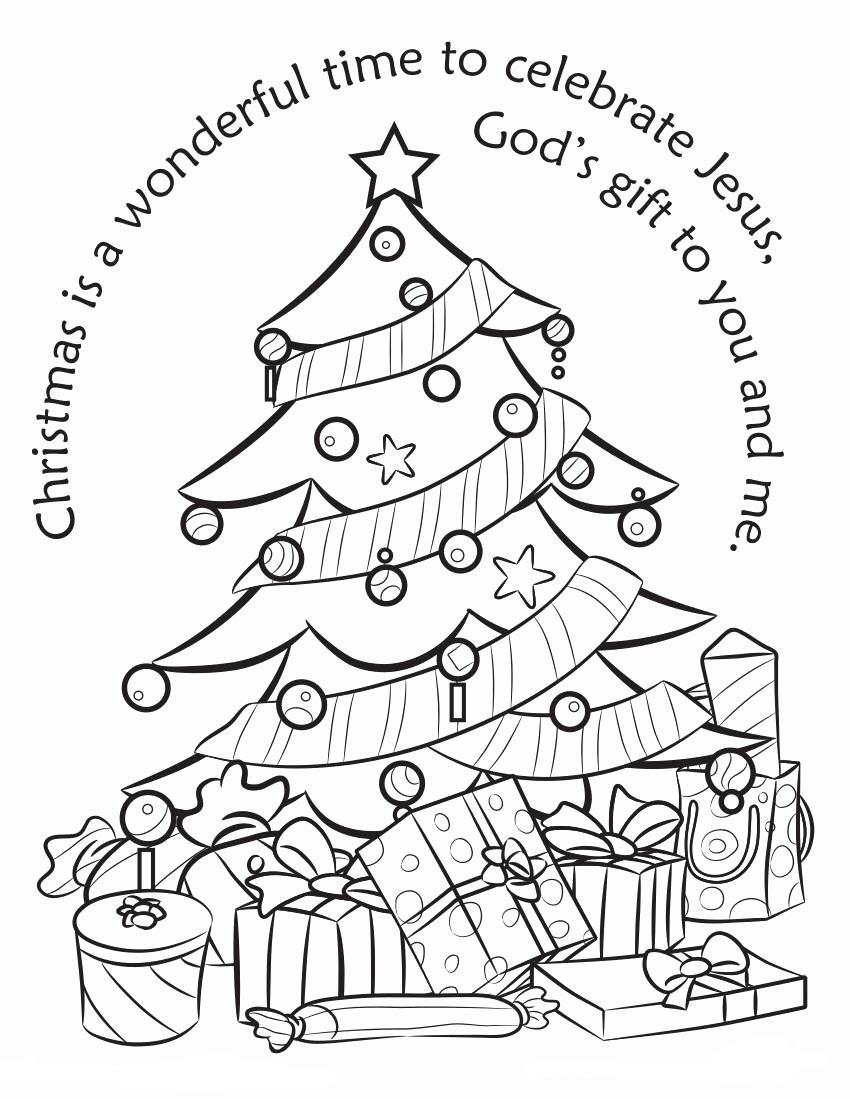 Hình tô màu cây thông Noel đẹp, xuất sắc nhất
