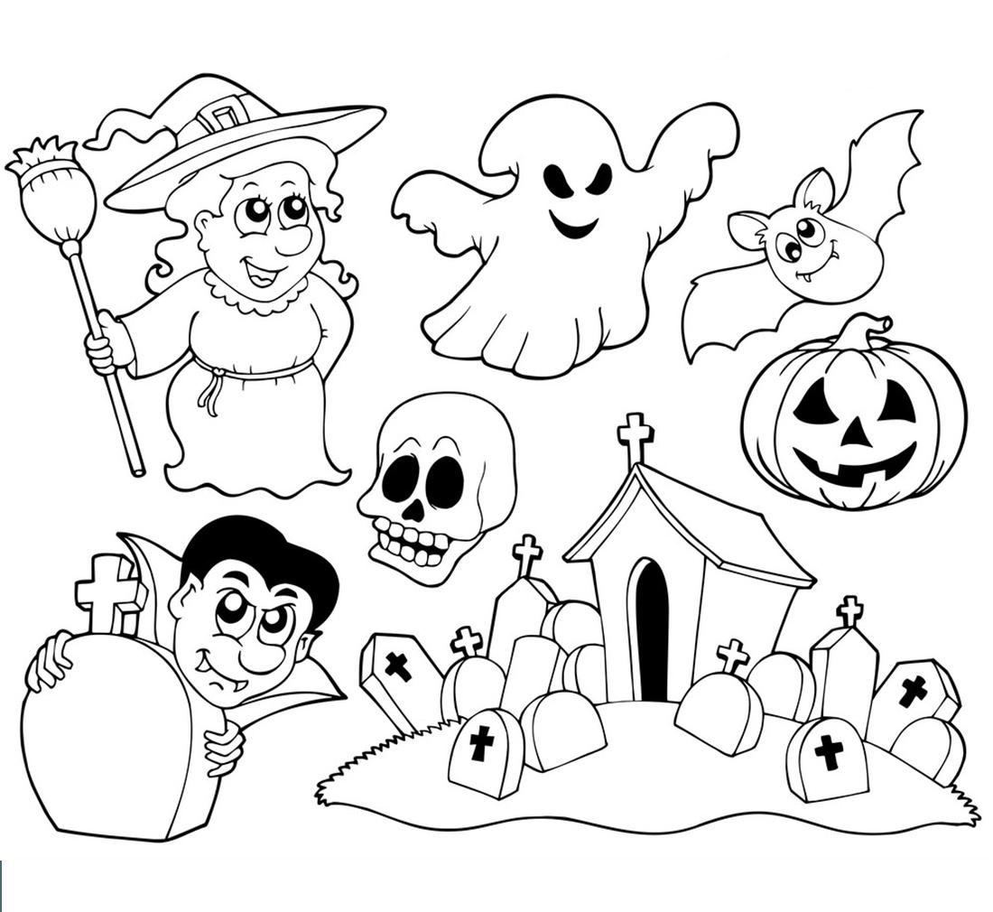 Hình tô màu chủ đề Halloween