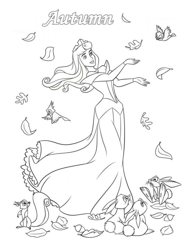 Hình tô màu công chúa Aurora cực đẹp