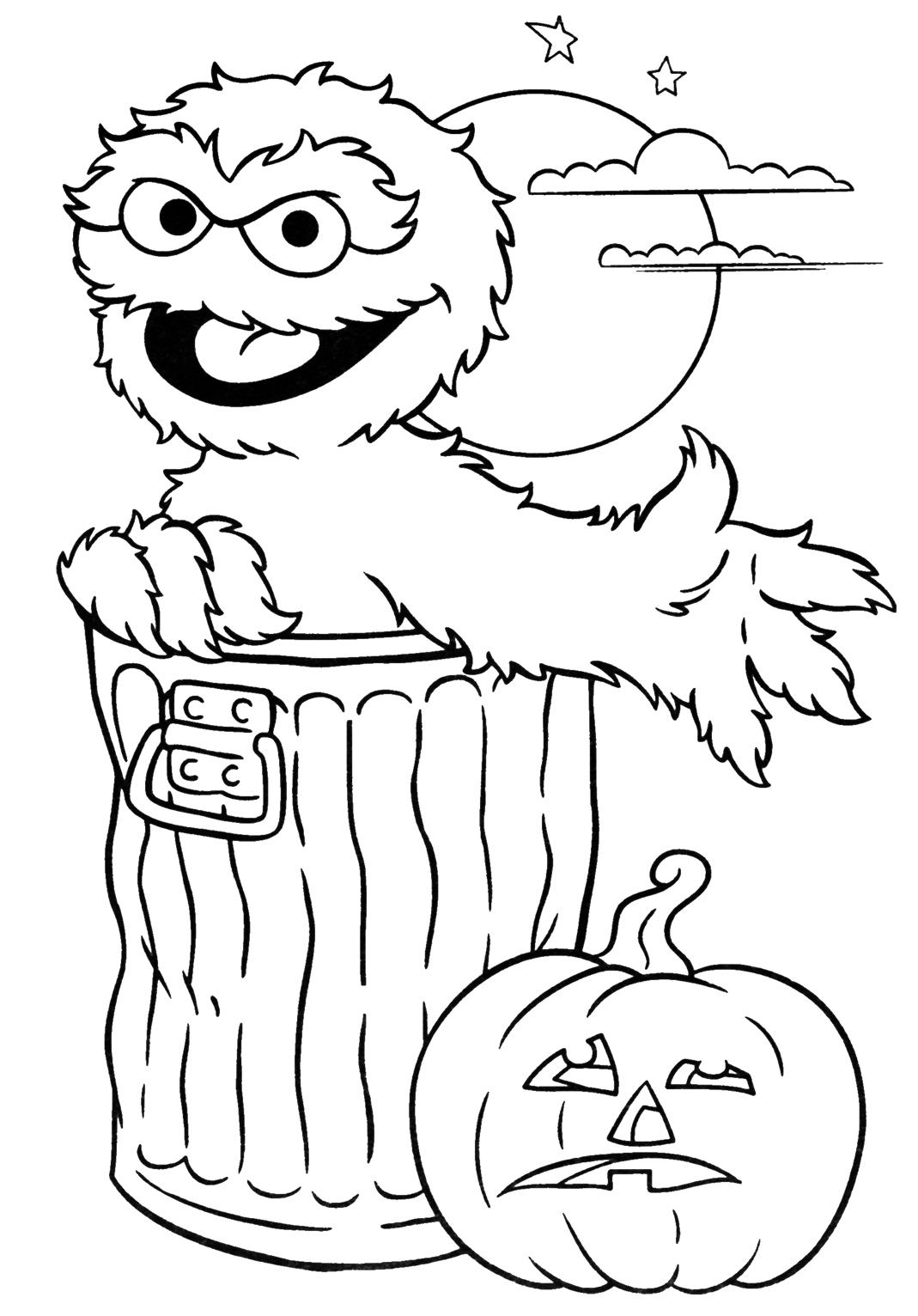 Hình tô màu Halloween cho bé