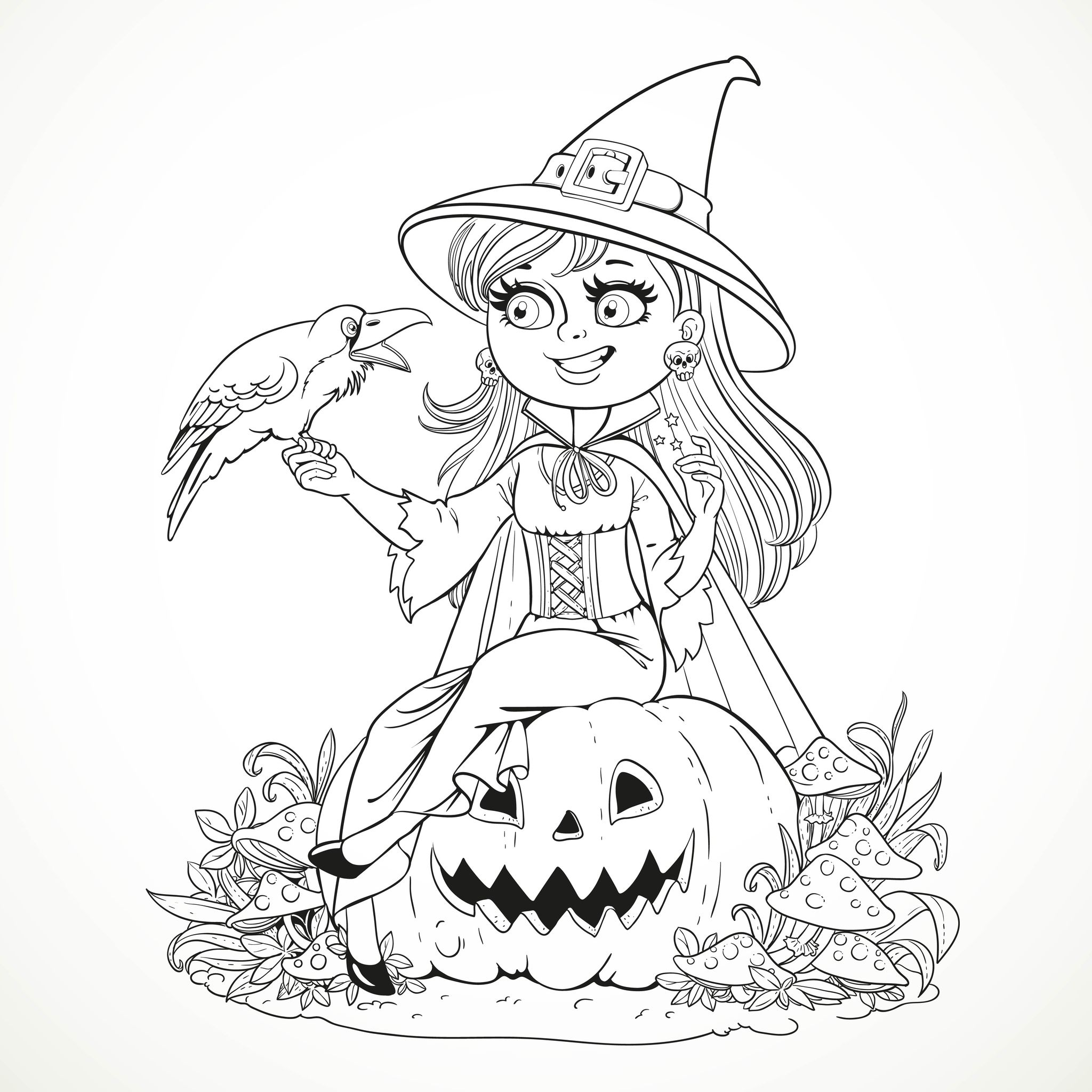 Hình tô màu Halloween cực đẹp