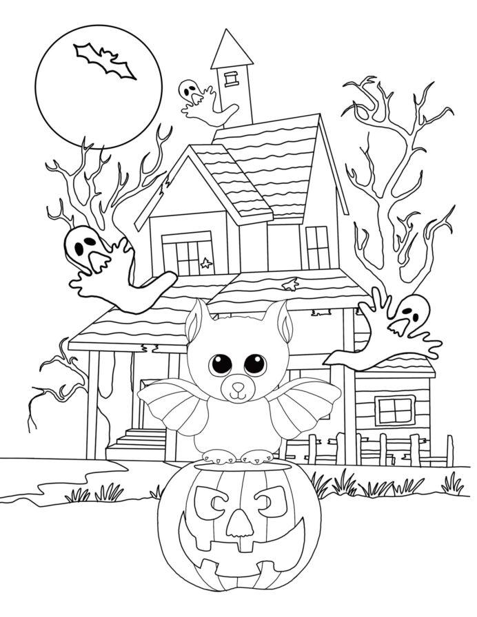 Hình tô màu Halloween đẹp, hấp dẫn nhất