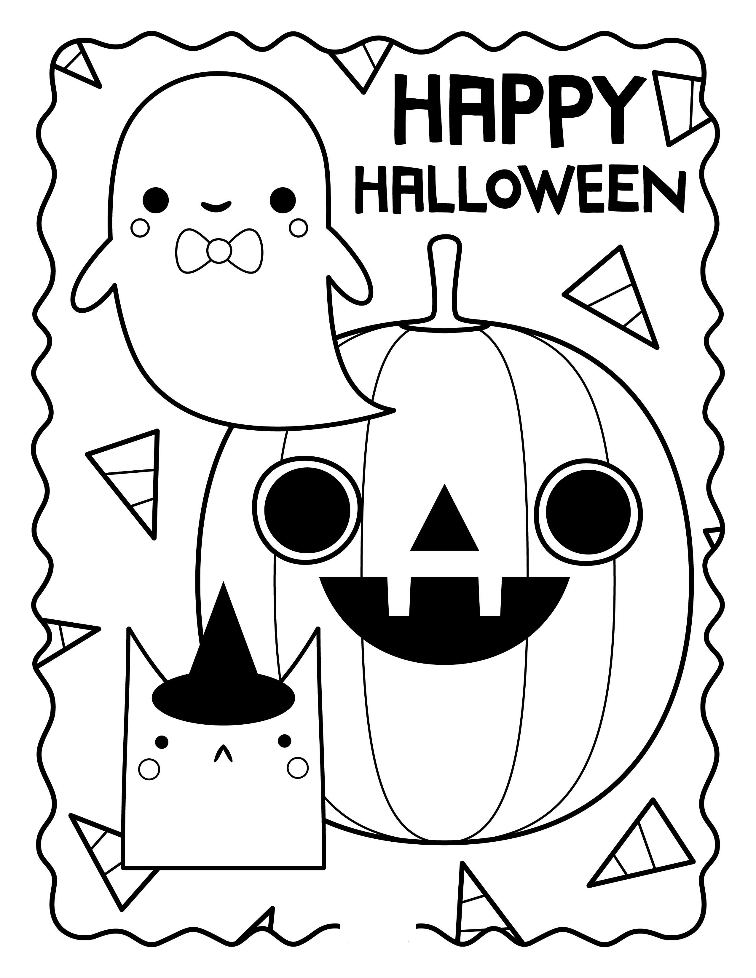 Hình tô màu Halloween đẹp nhất
