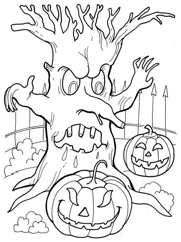 Hình tô màu Halloween đẹp, rùng rợn