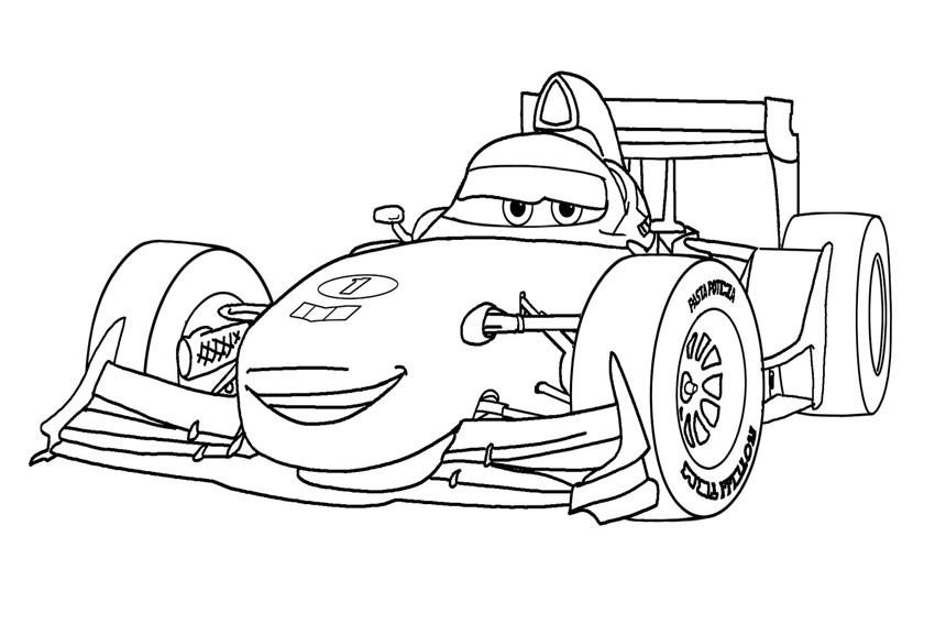 Hình tô màu xe đua hoạt hình đẹp