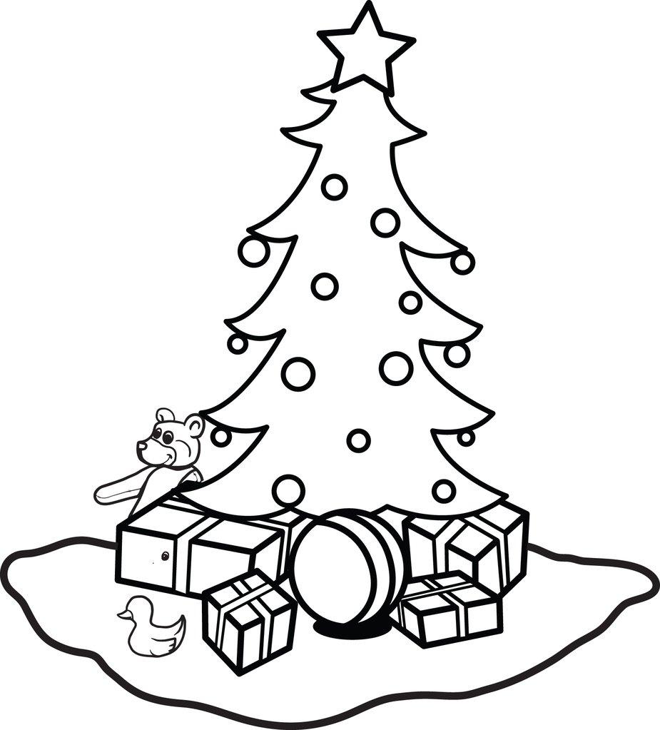 Hình tô mày cây thông Noel và những món quà