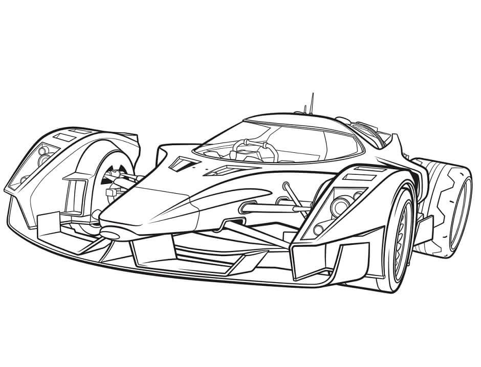Mẫu tranh tô màu xe đua F1 đẹp
