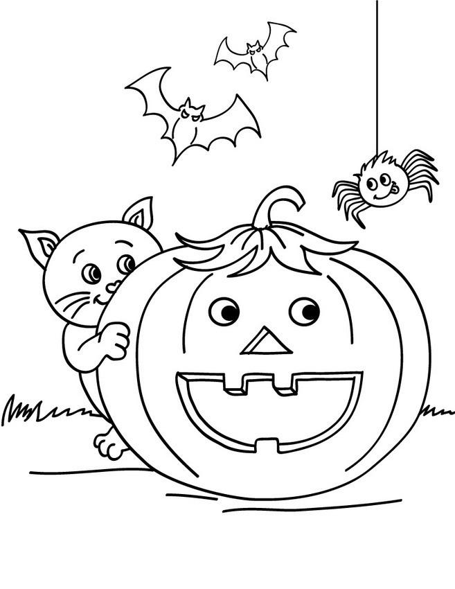 Tranh tô màu bí ngô Halloween
