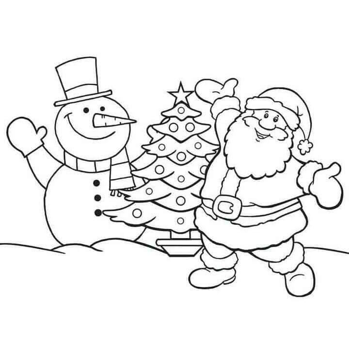 Tranh tô màu cây thông Noel đẹp nhất