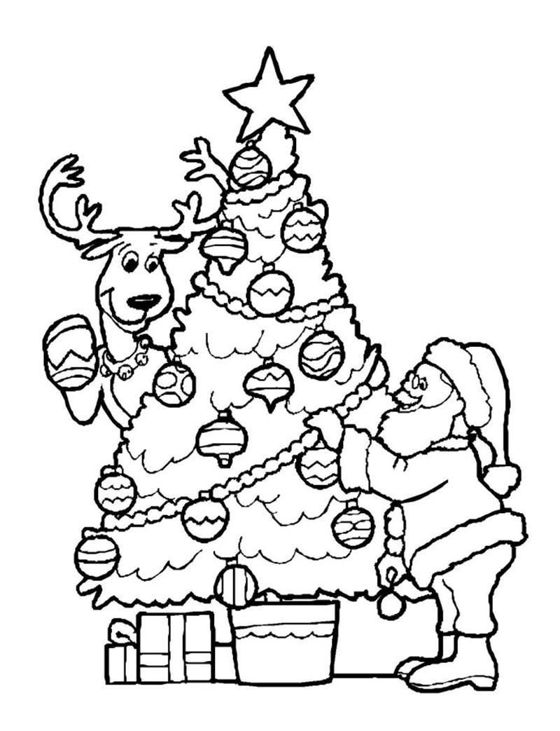 Tranh tô màu cây thông Noel đẹp, ý nghĩa