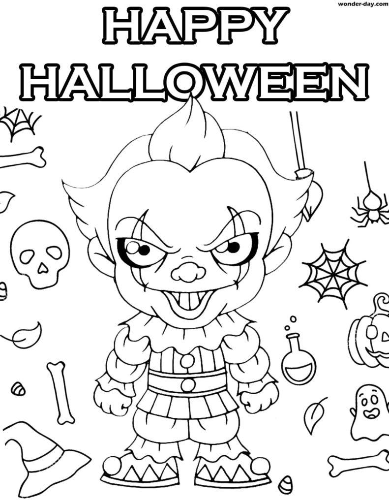 Tranh tô màu cho bé chủ đề Halloween