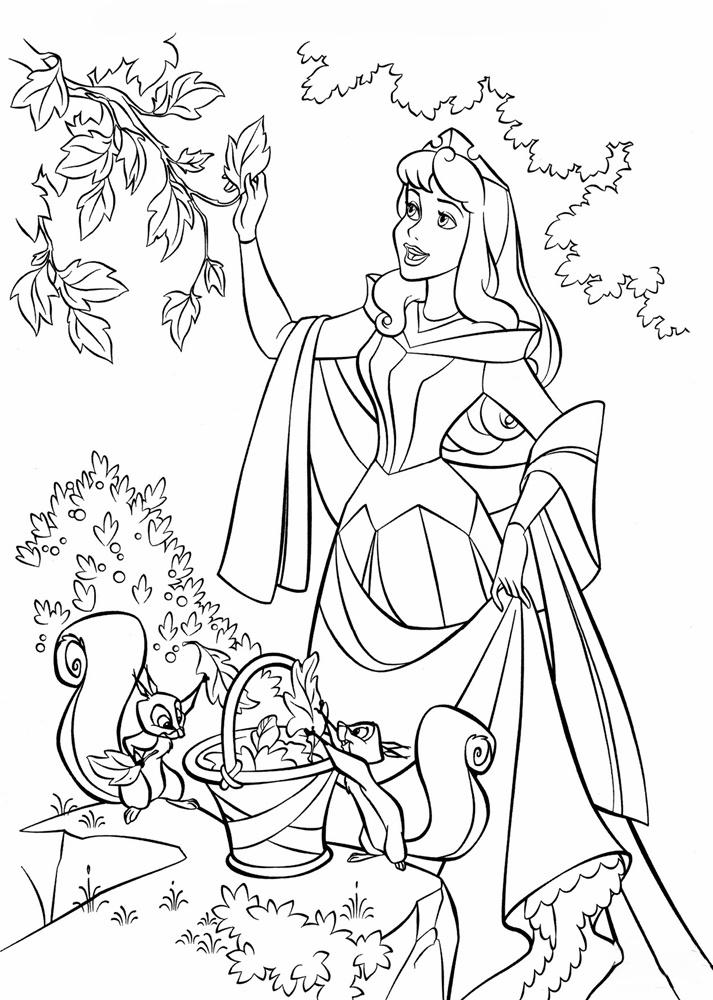 Tranh tô màu công chúa Aurora - Công chúa ngủ trong rừng
