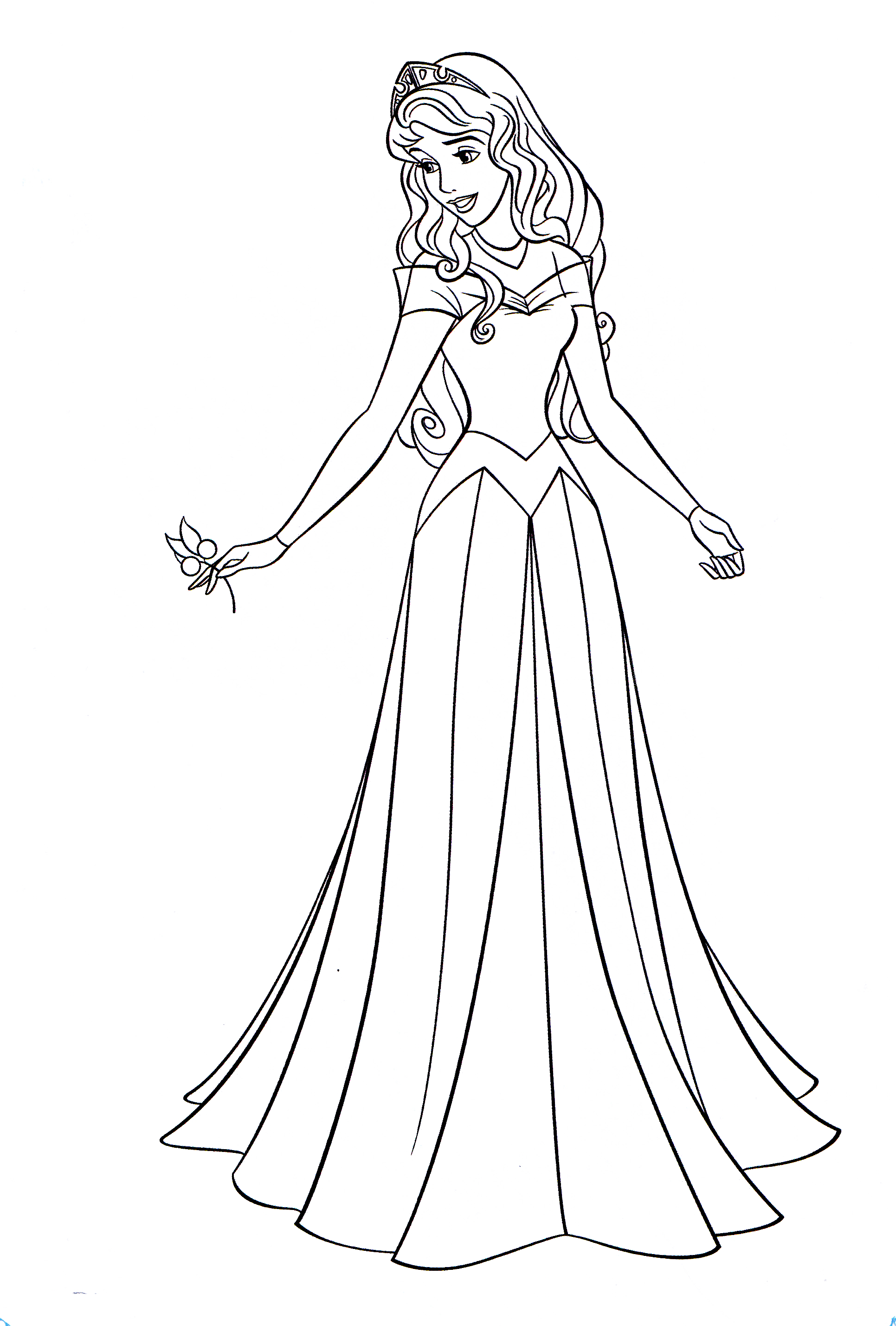 Tranh tô màu công chúa Aurora đẹp
