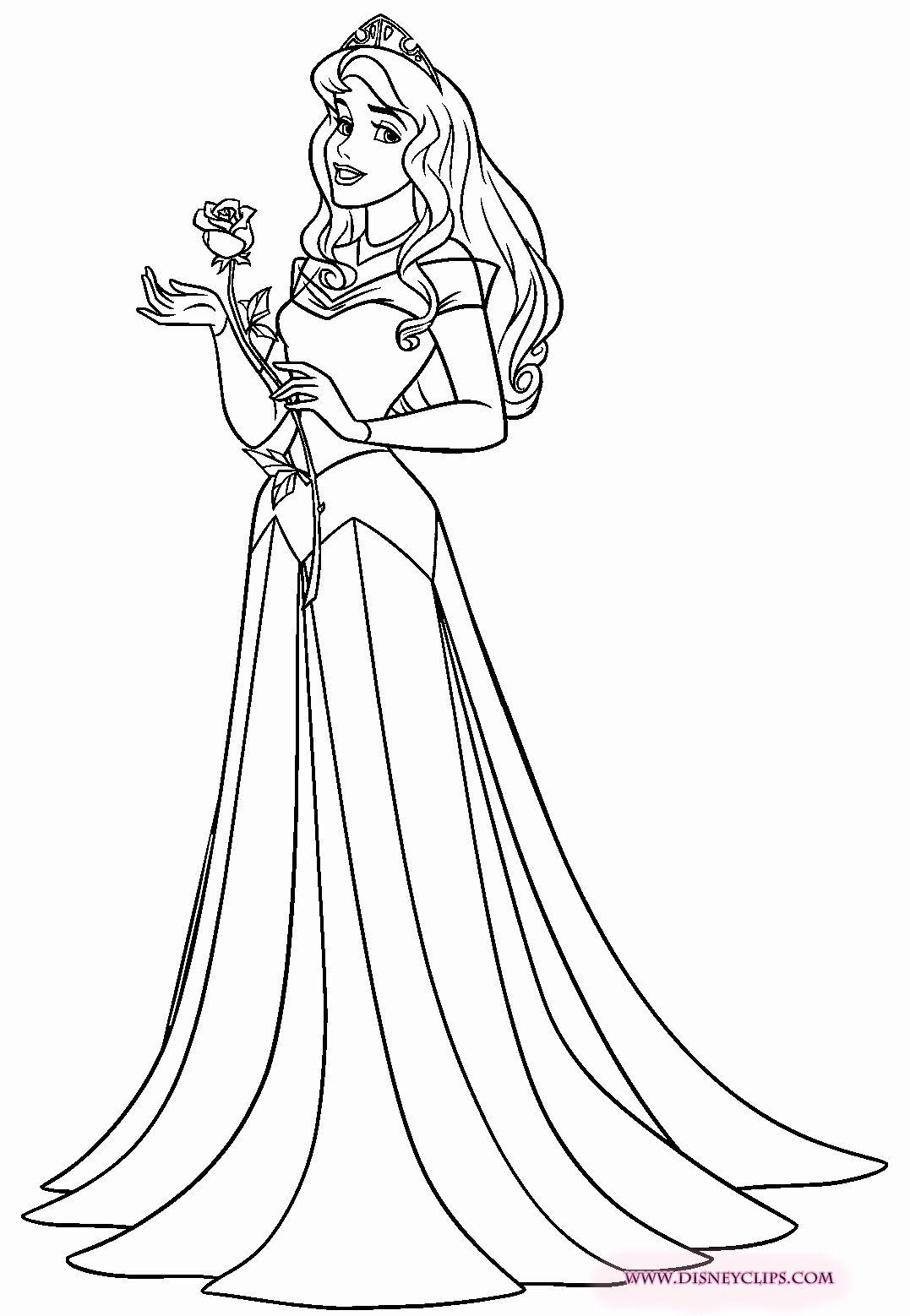 Tranh tô màu công chúa Aurora nhẹ nhàng, xinh đẹp