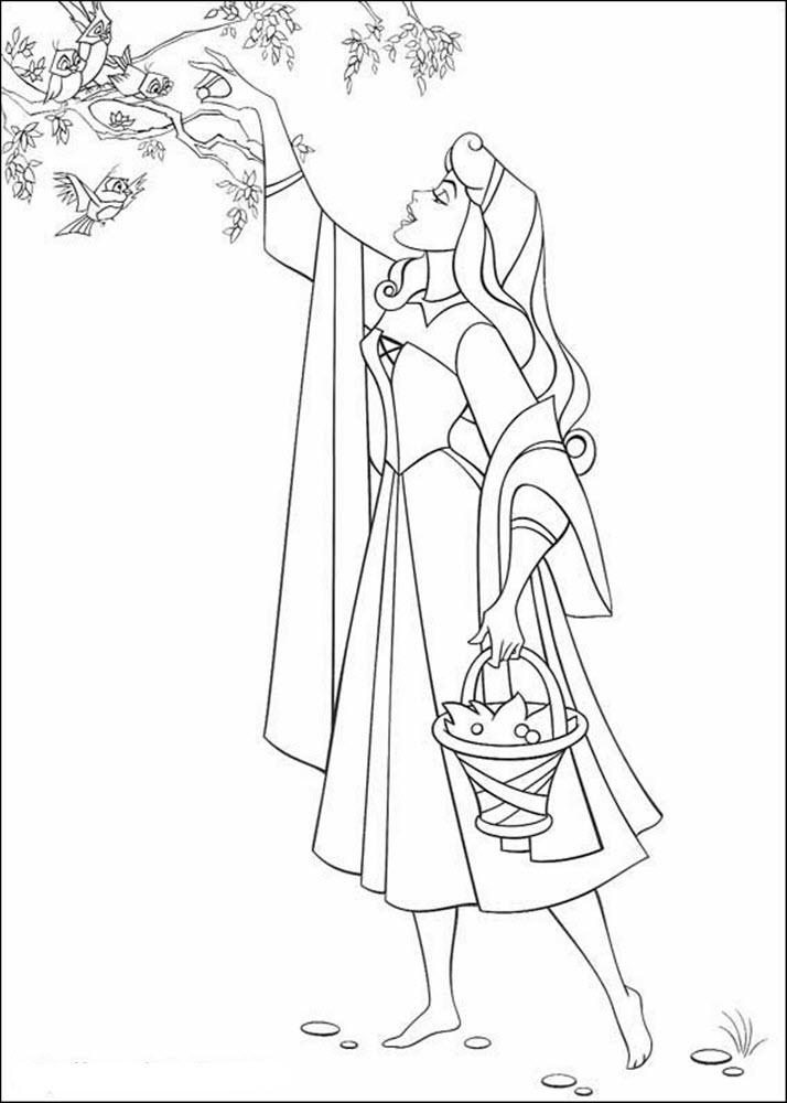 Tranh tô màu công chúa Aurora