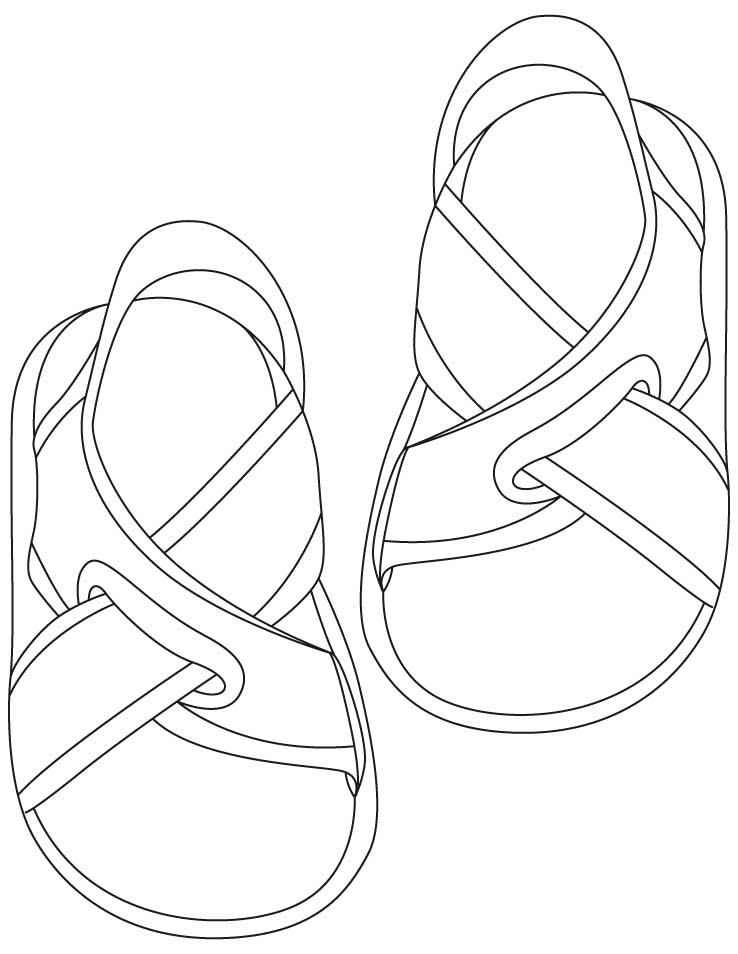 Tranh tô màu đôi dép đẹp, thanh lịch