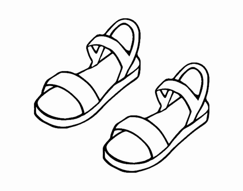 Tranh tô màu đôi dép quai hậu