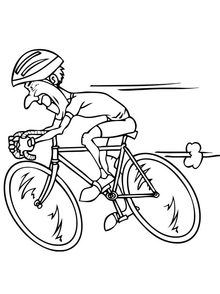 Tranh tô màu đua xe đạp