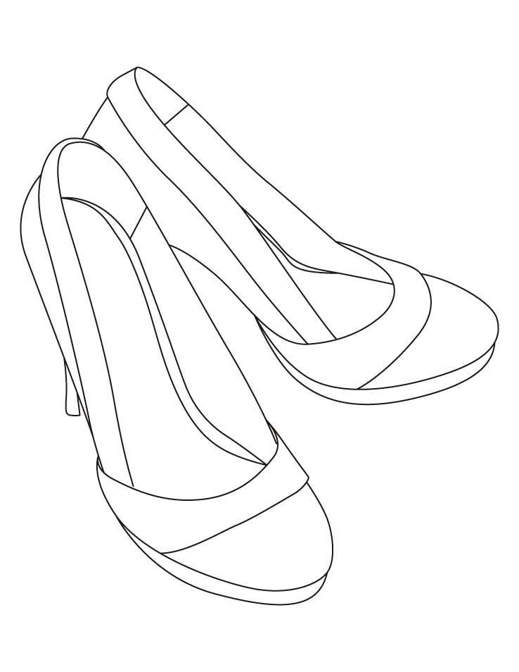 Tranh tô màu giày cao gót
