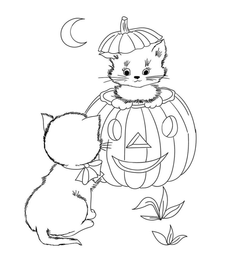 Tranh tô màu Halloween cực dễ thương
