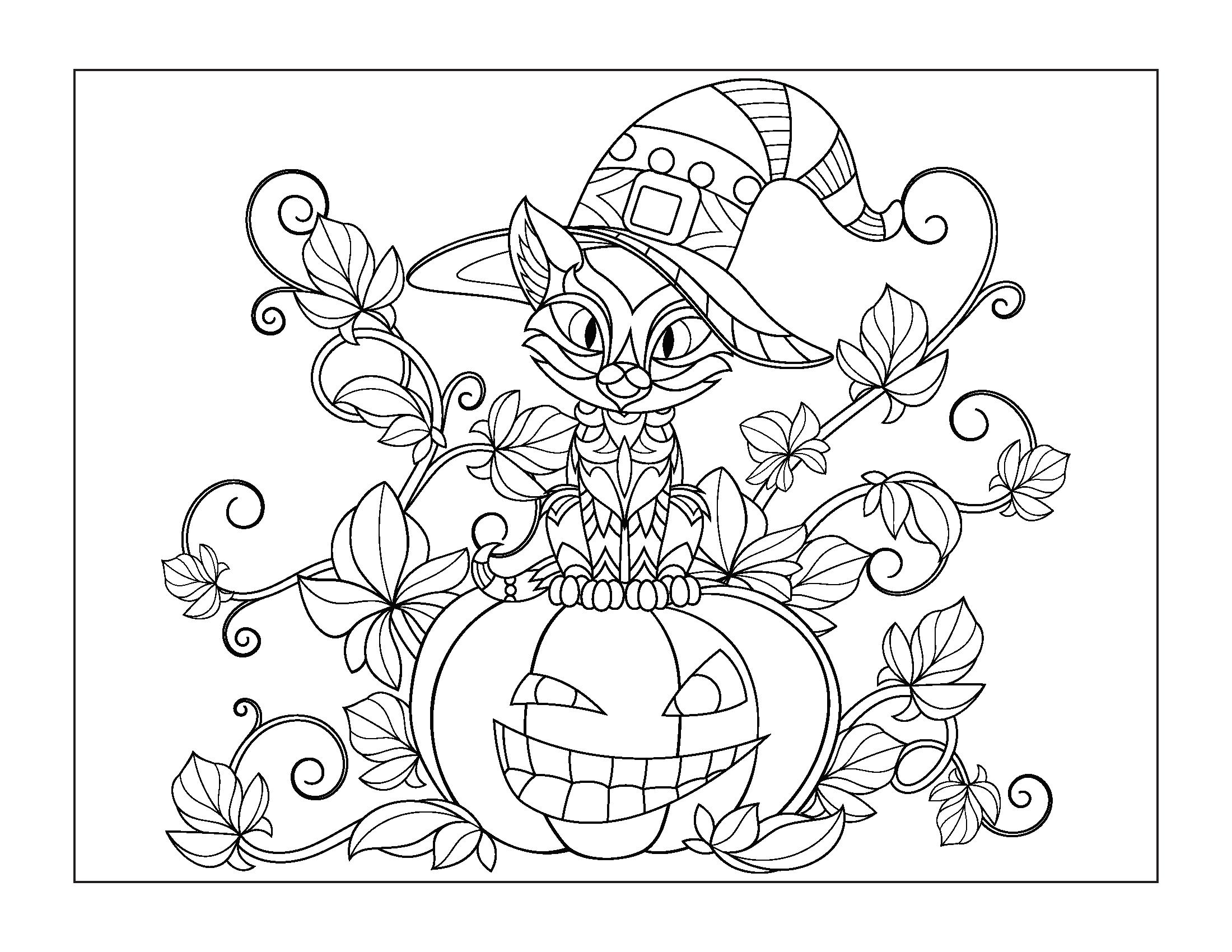 Tranh tô màu Halloween đẹp, ấn tượng nhất