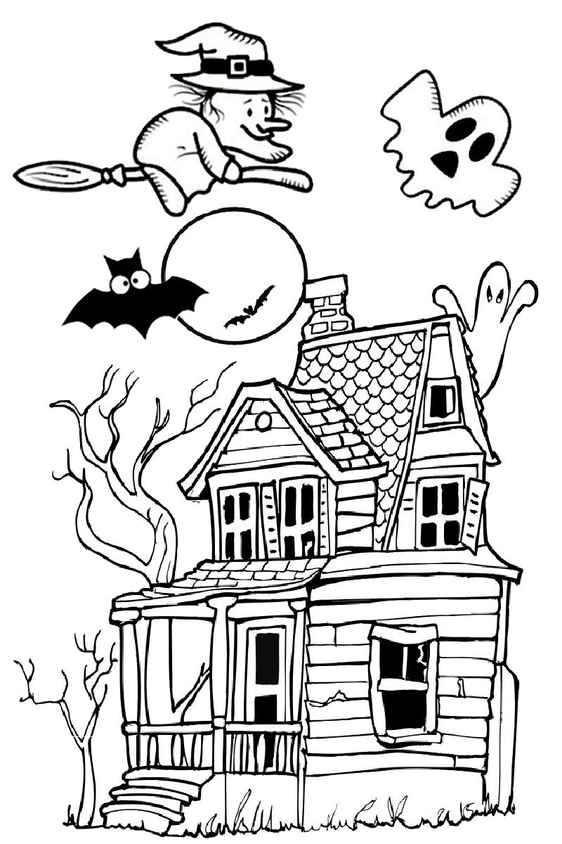 Tranh tô màu Halloween đẹp