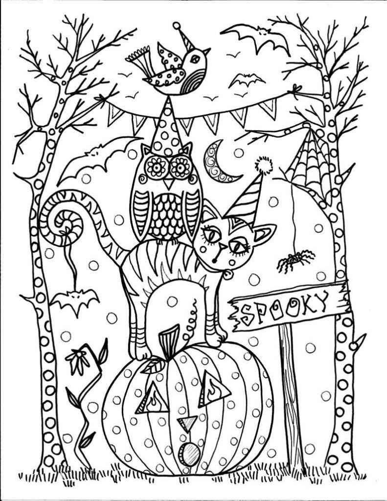 Tranh tô màu Halloween sáng tạo đẹp nhất