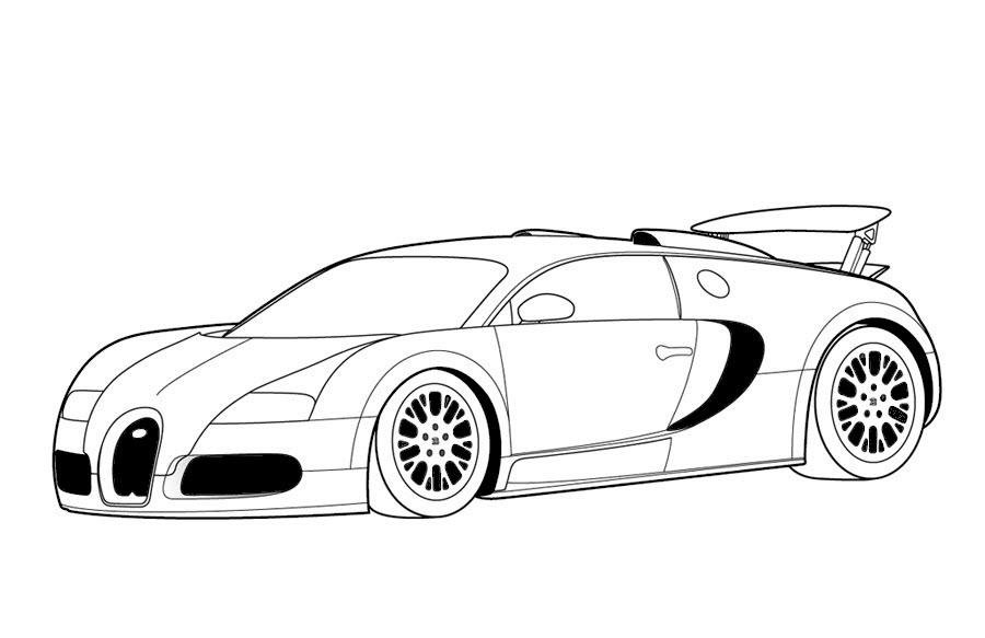 Tranh tô màu hình xe đua