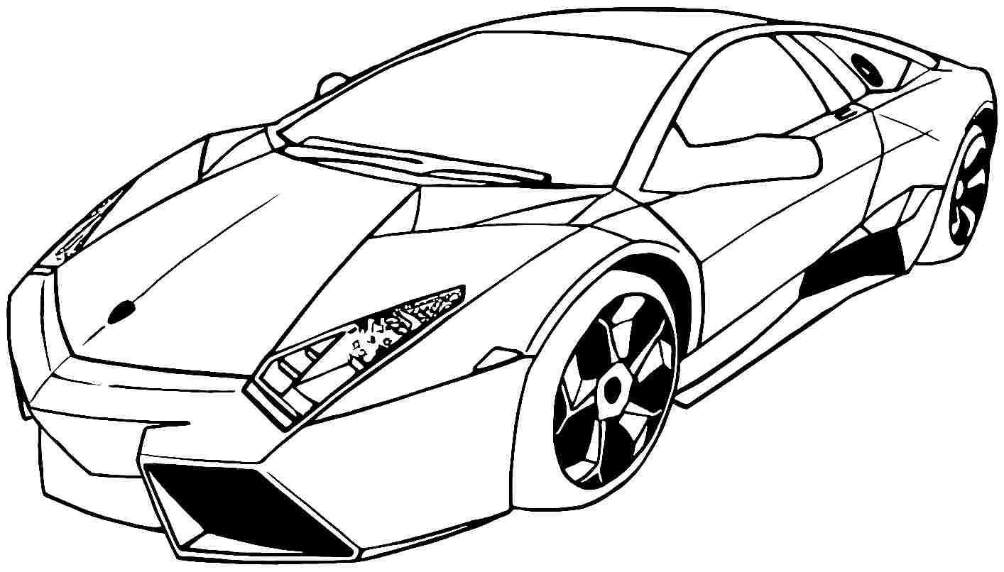 Tranh tô màu siêu xe ô tô đua đẹp, chất