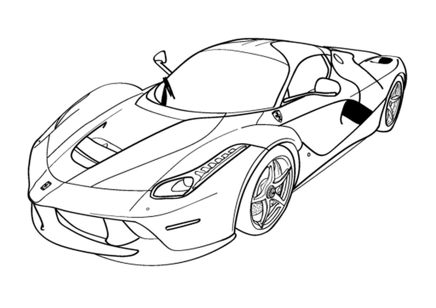 Tranh tô màu siêu xe ô tô đua