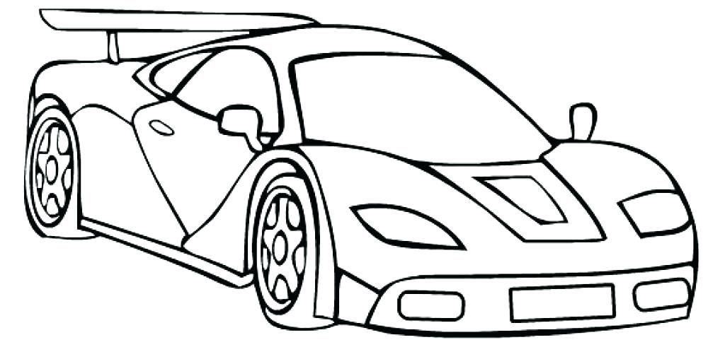 Tranh tô màu xe đua đơn giản, ngầu
