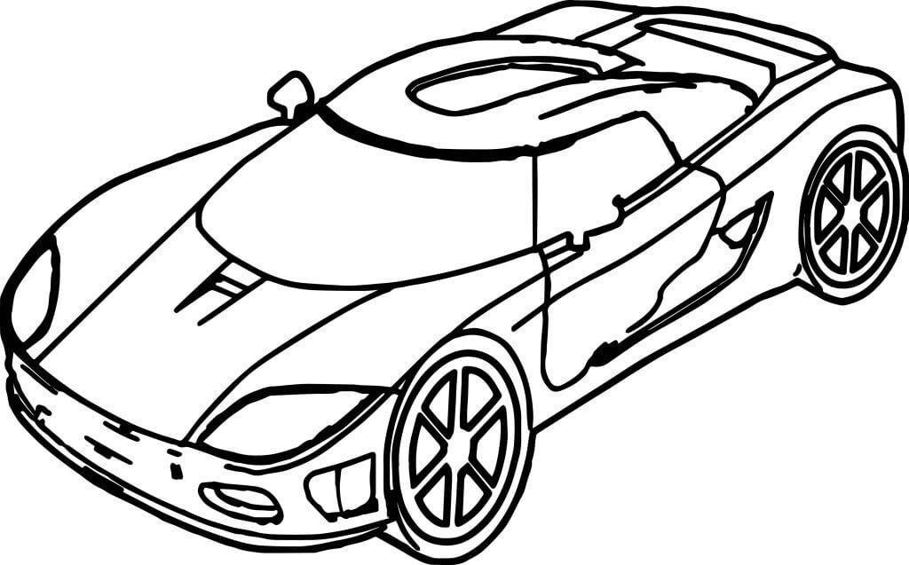 Tranh tô màu xe đua đơn giản
