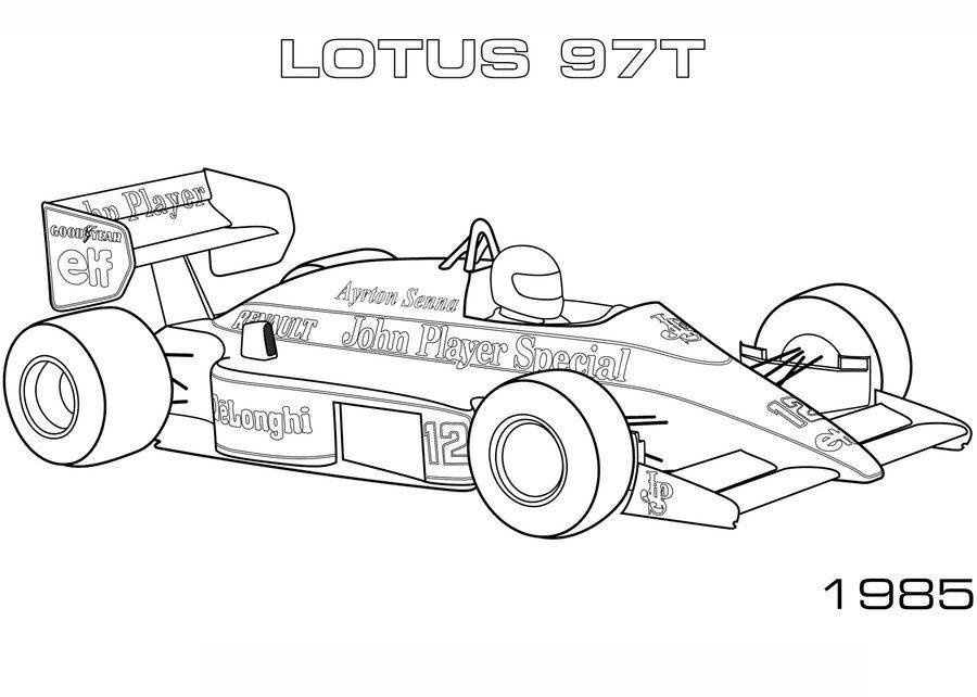 Tranh tô màu xe đua F1