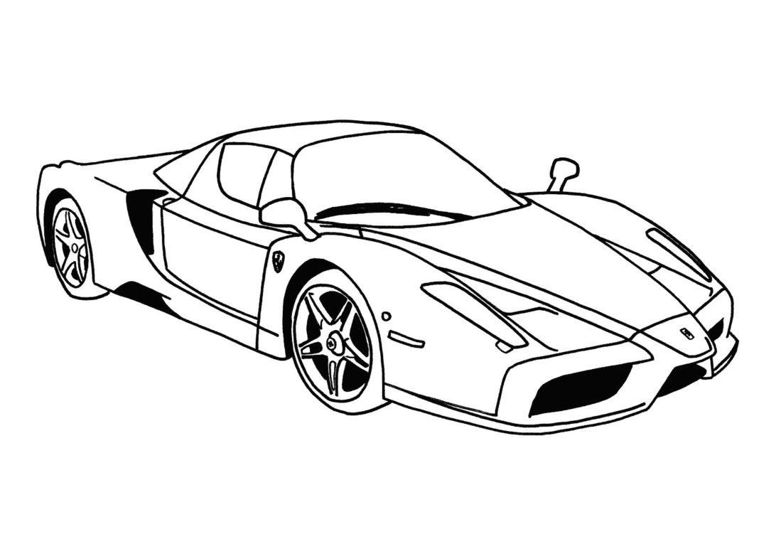 Tranh tô màu xe đua Ferrari