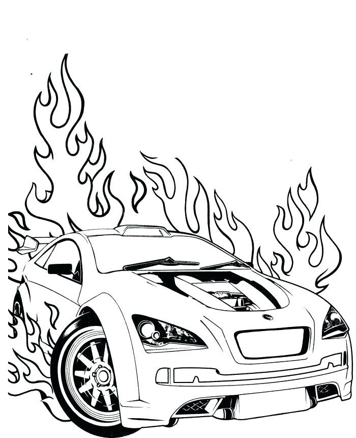 Tranh tô màu xe đua rực lửa