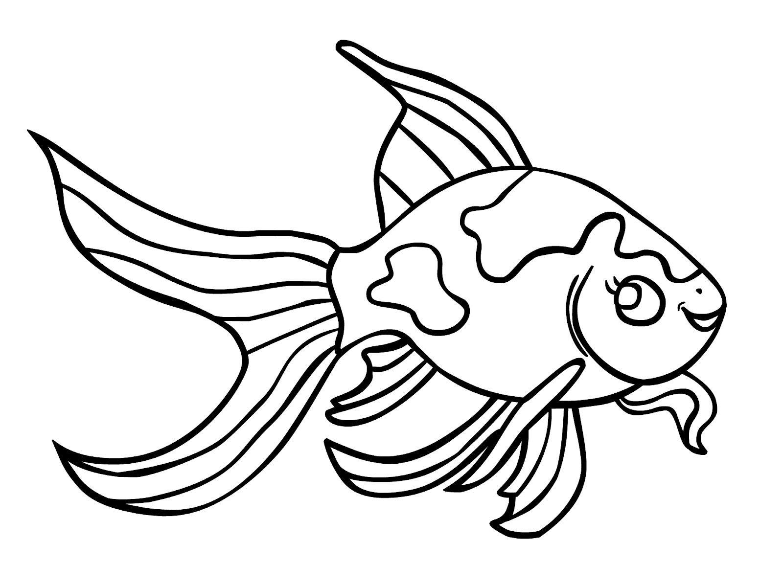 Tranh tô màu cá vàng cực đẹp
