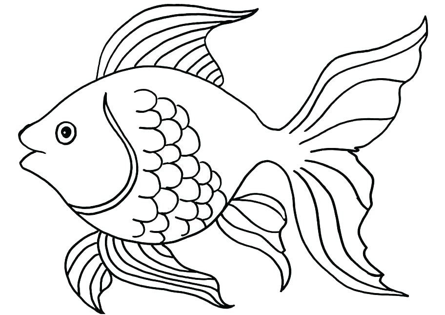 Tranh tô màu cá vàng đẹp nhất
