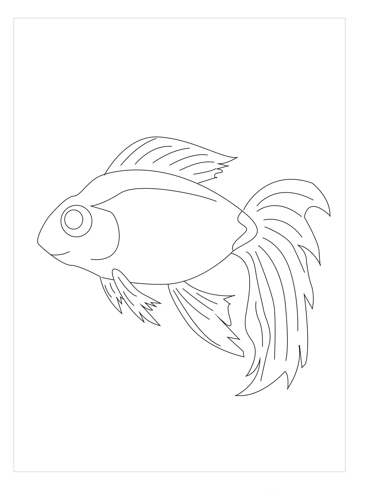 Tranh tô màu cá vàng đẹp, sống động nhất