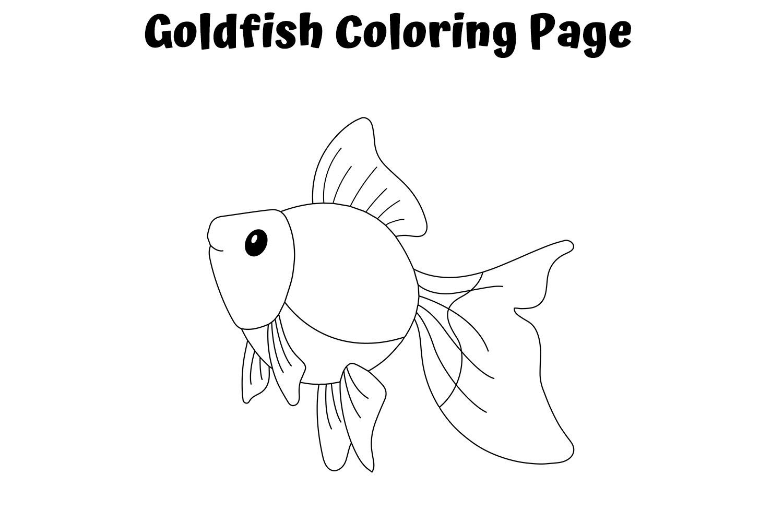 Tranh tô màu cá vàng đơn giản