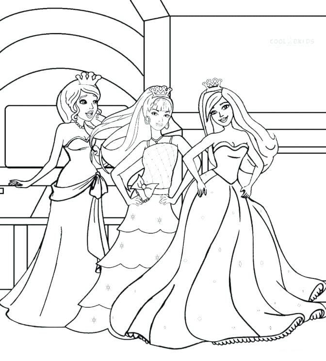Tranh tô màu các nàng công chúa Barbie