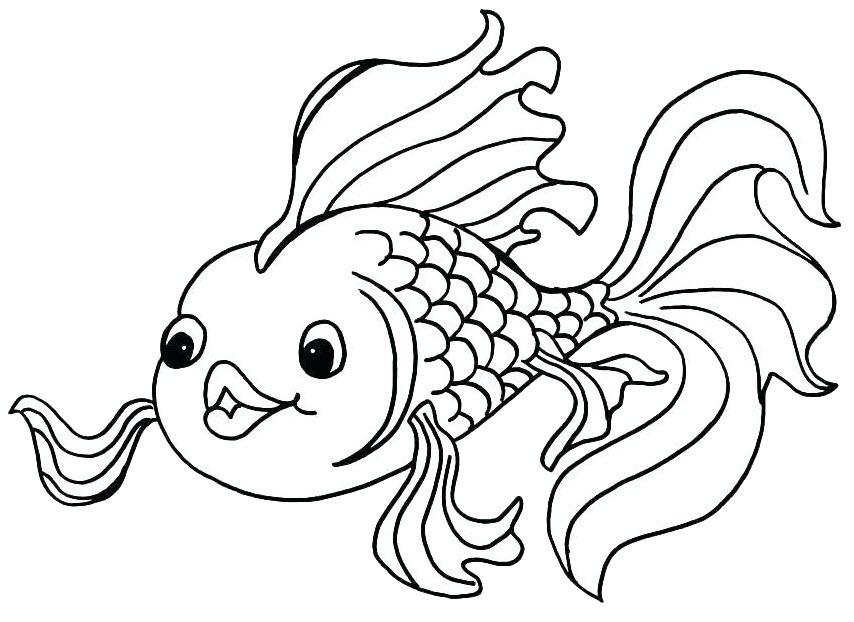 Tranh tô màu con cá đẹp, dễ thương