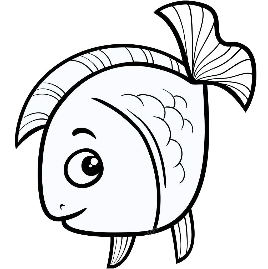 Tranh tô màu con cá vàng đơn giản