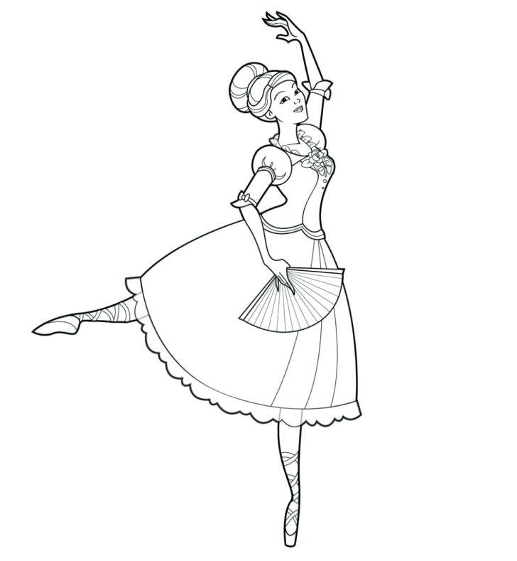 Tranh tô màu công chúa Barbie nhảy múa