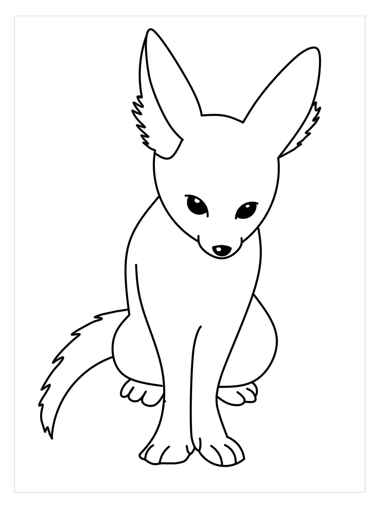Hình tô màu con cáo đẹp